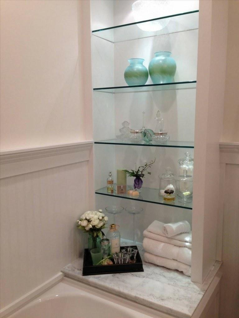Estantes de vidrio para ba o - Estanterias de cristal para banos ...