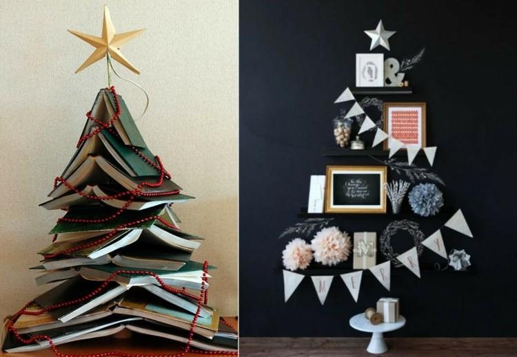 arboles de navidad ideas blanco paredes