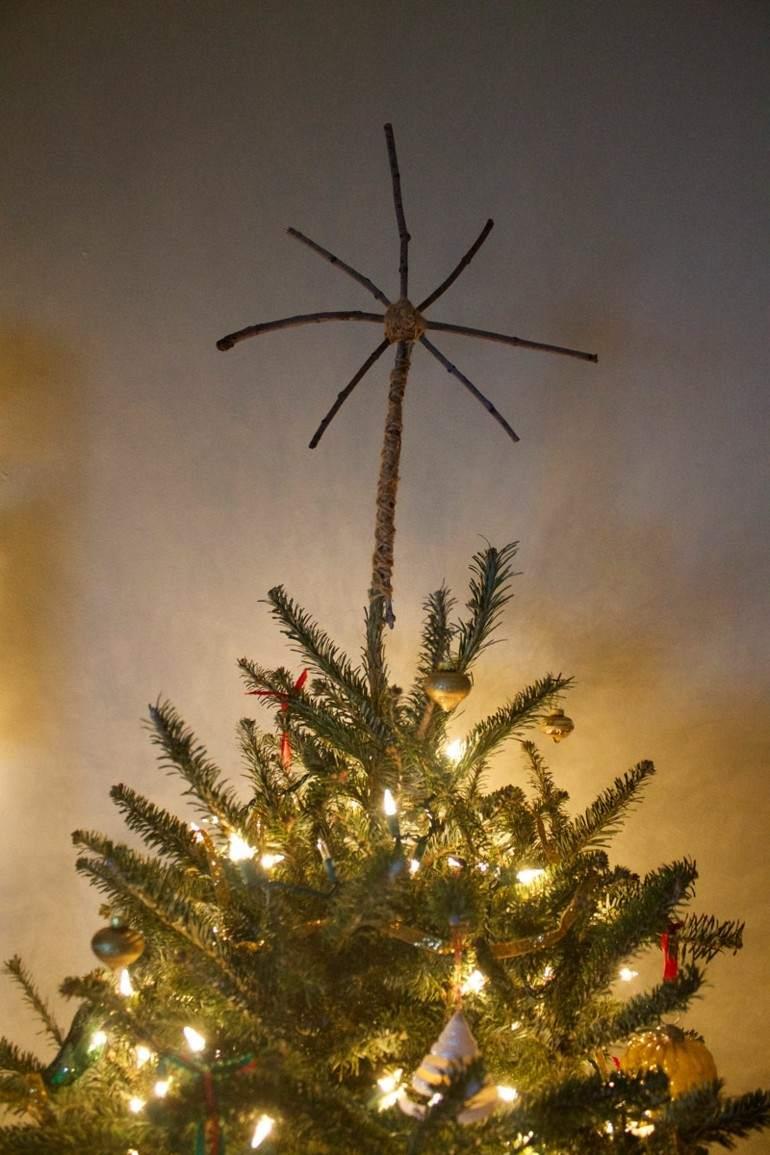 estrella navidad ramitas piuno