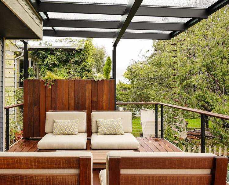 Persianas vallas y rejas de madera para la terraza - Estructuras para terrazas ...