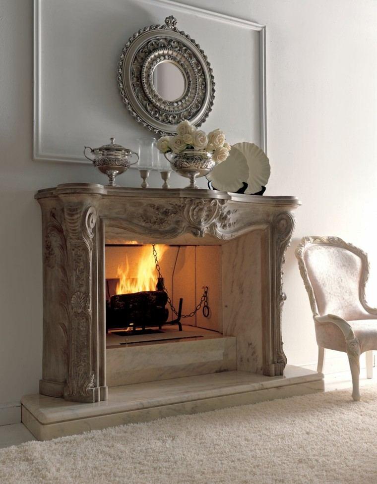 estupenda chimenea estilo retro lujosa