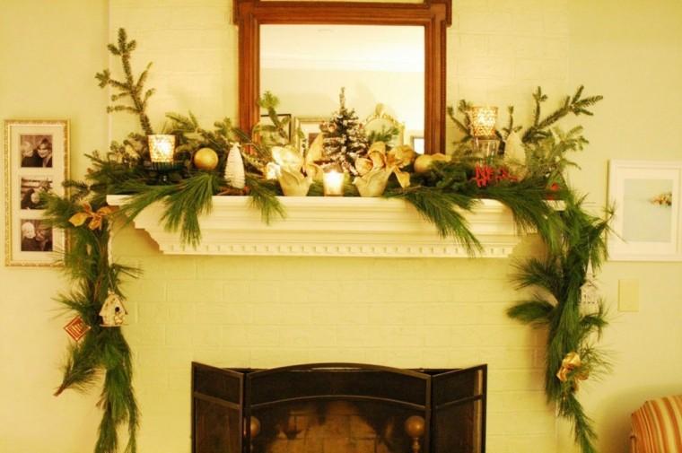 estupenda decoración ramas pino