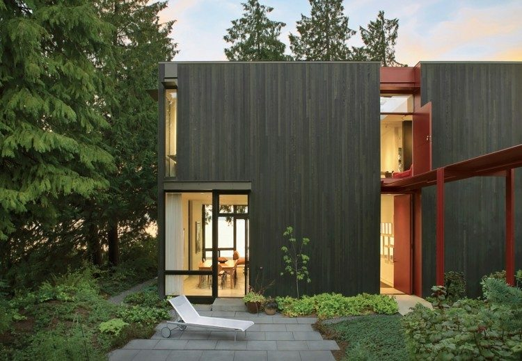 estupenda fachada vivienda madera laminada