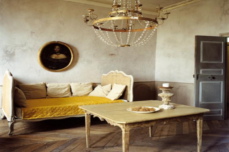 estupenda sala estilo minimalista retro