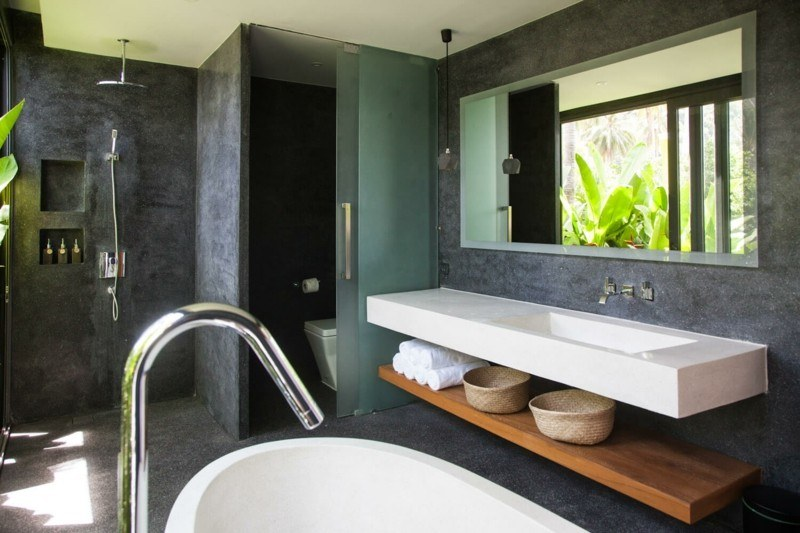 estupenda decoración baño moderno