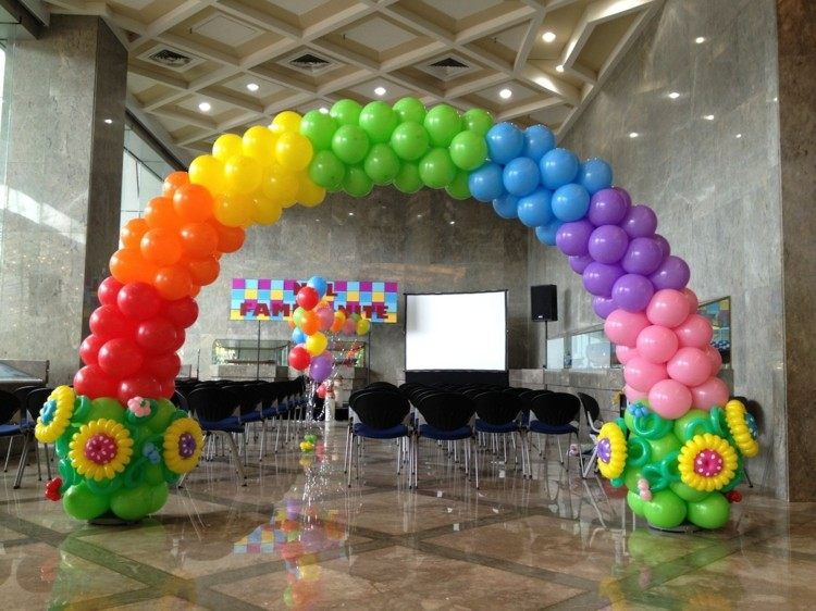 estupendo arco colores globos colores