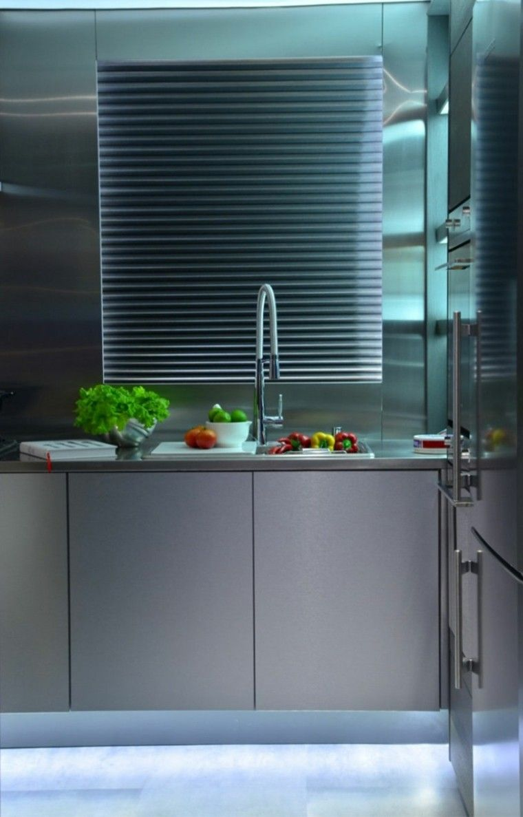 estupendo diseño cocina muebles acero