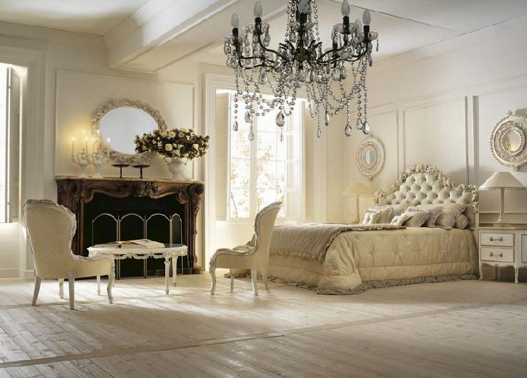 estupendo dormitorio estilo lujoso vintage