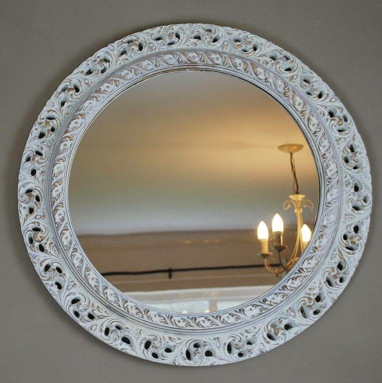 estupendo espejo redondo retro bolanco