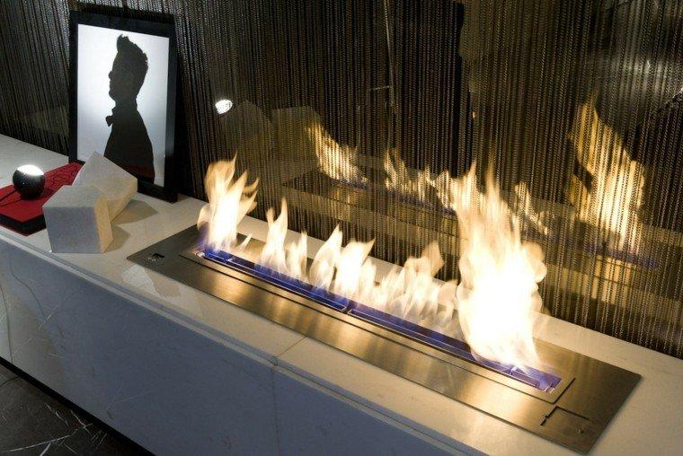 estupendo diseño chimenea moderna salón