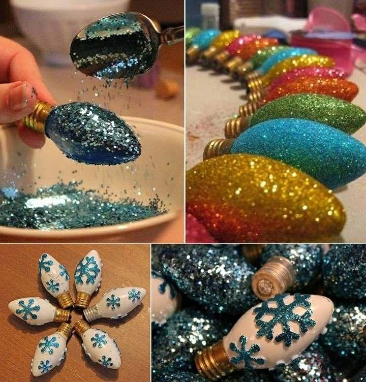 estupendos adornos bombillas colores