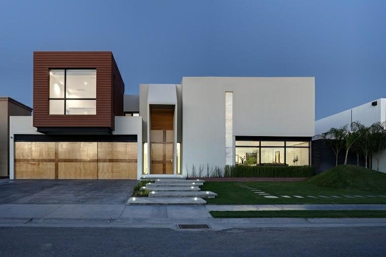 Fachadas modernas de estilo contempor neo Pisos modernos para casas minimalistas