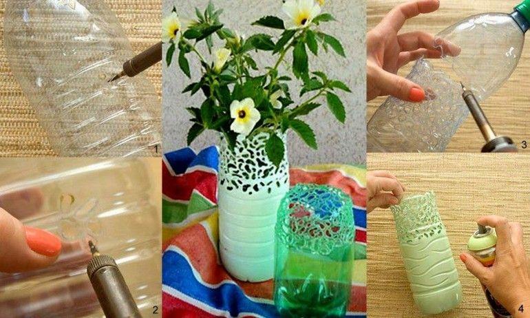 estupendos floreros botellas plástico