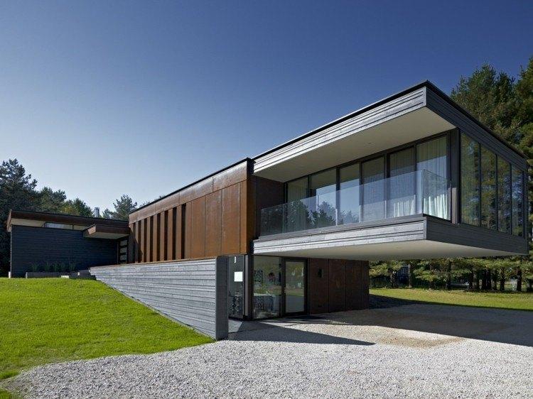 fachada vivienda estilo moderno