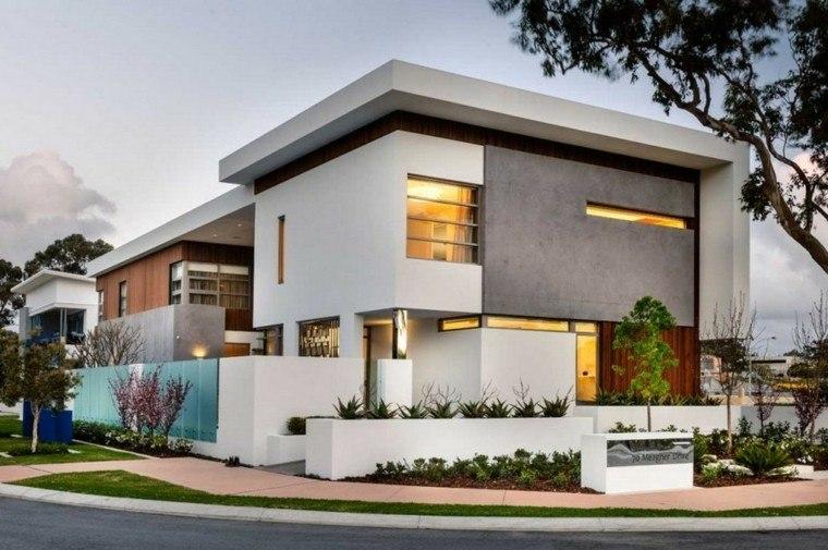 Fachadas modernas de estilo contempor neo for Casas decoradas estilo contemporaneo