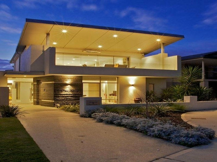 Fachadas modernas para todos los gustos y estilos for Modelos de casas con terrazas modernas