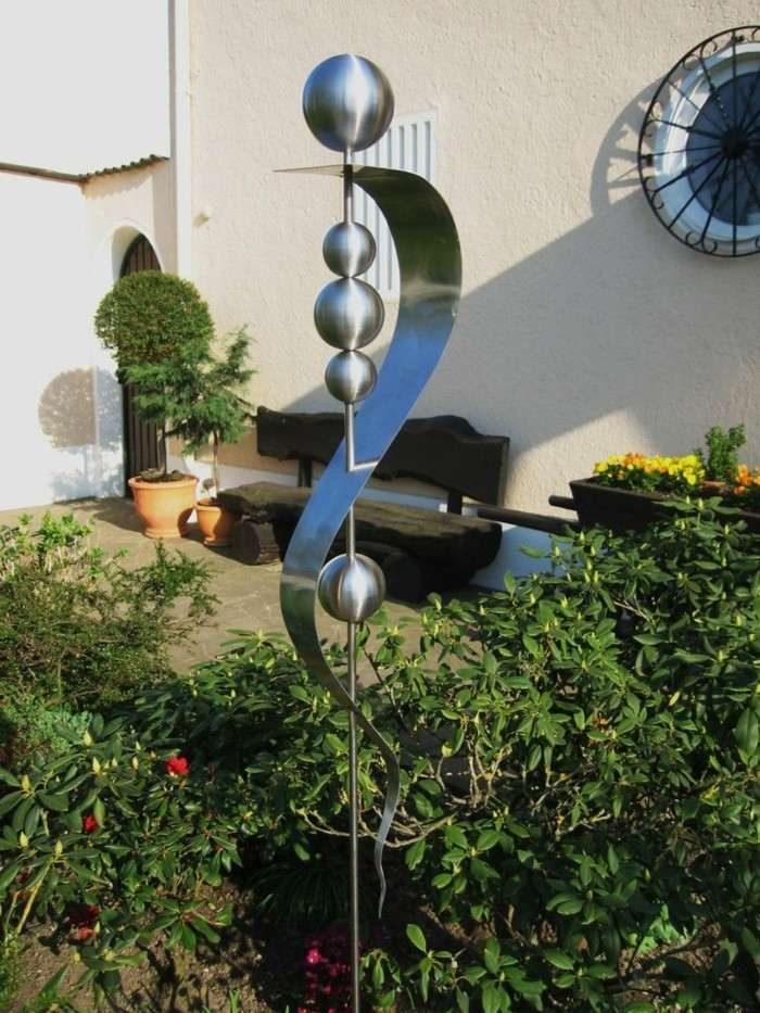 figuras decorativas acero jardin ideas
