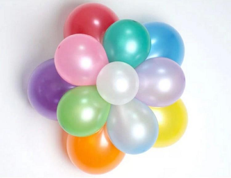 flor globos de cumpleaños nacarados