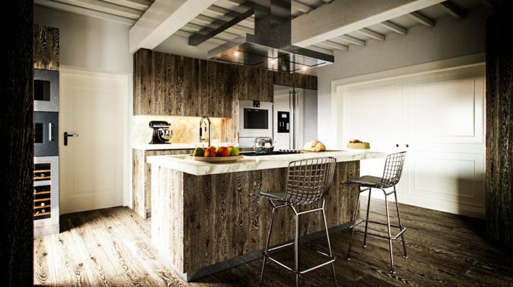 fotos cocinas diseños estilos metales mesa