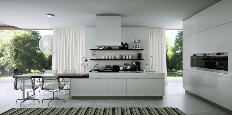fotos cocinas diseños estilos rayas alfombra