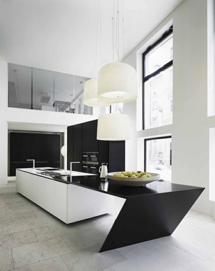 fotos cocinas diseños futurista lamparas futurista
