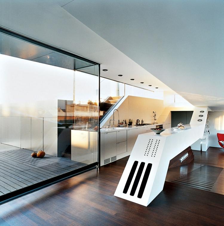 fotos cocinas diseños moderno blanco madera