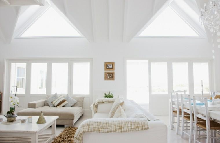 fotos de salones color blanco puro muebles paredes ideas