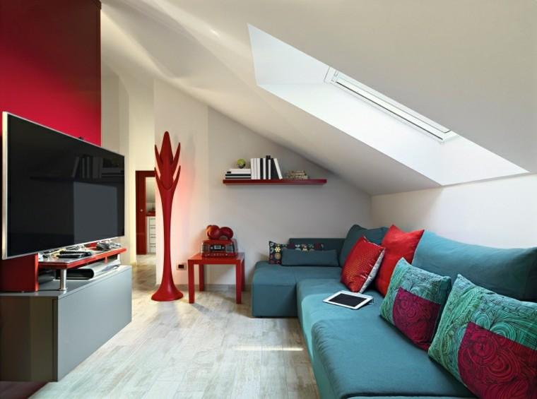 fotos de salones decoracion rojo ideas