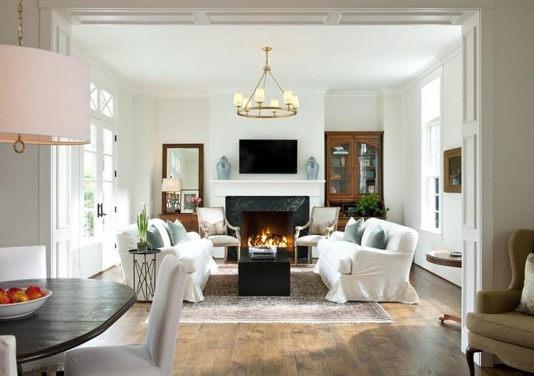 fotos de salones sofas blancas ideas