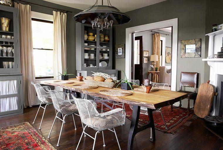 fotos impresionantes comedor sillas acero ideas