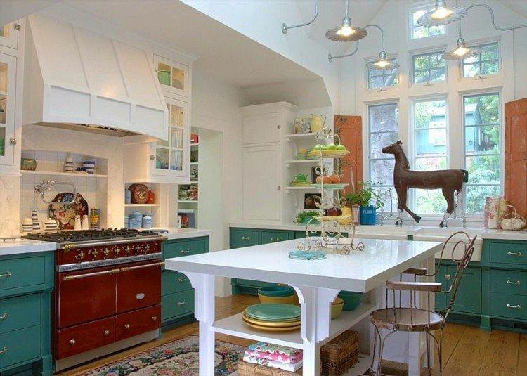 fresca cocina diseños elegante verdes caballos