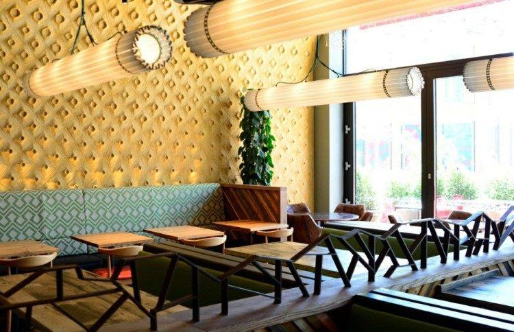 fresco detalles estilos diseños lamparas amarillo