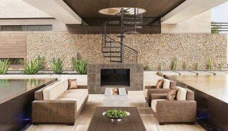 fuego escalera ideas estilos patio cocinas