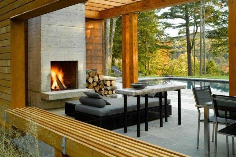 fuego exteriores ideas estilos jardines jardines