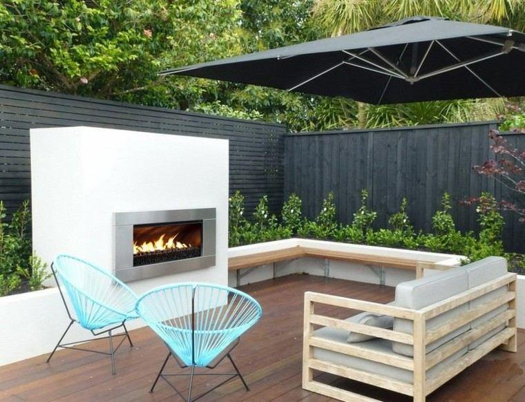 fuego exteriores ideas estilos patio jardines