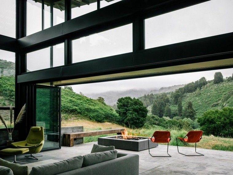 fuego moderno casa decoracion jardines