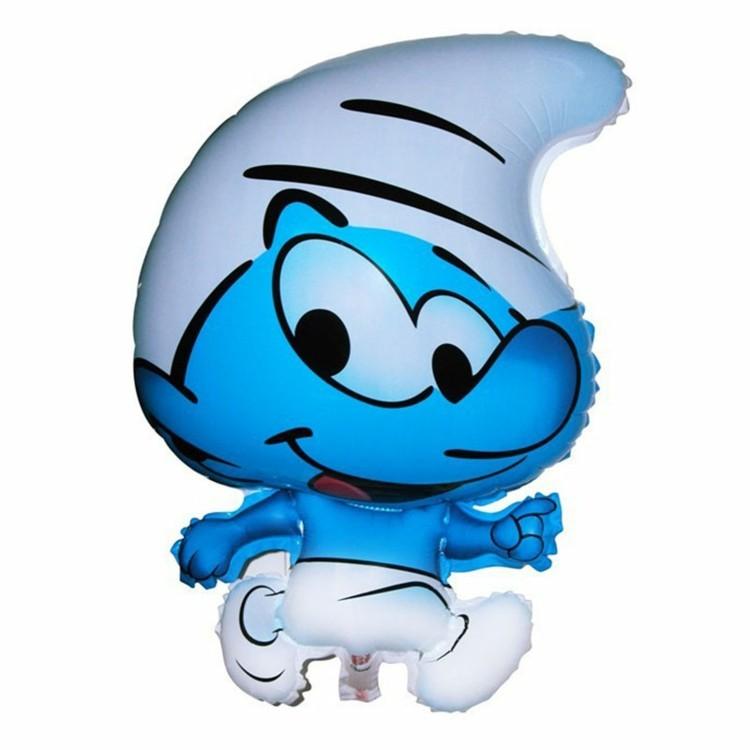 globo helio forma pitufo azul