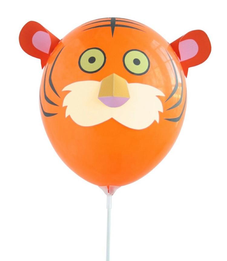 globo helio cabeza tigre