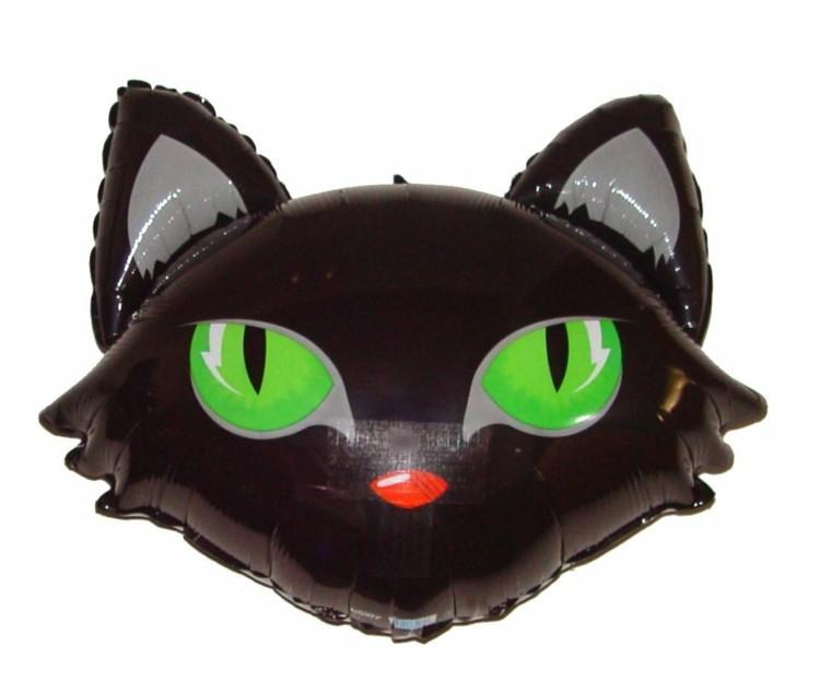 globo helio forma gato negro