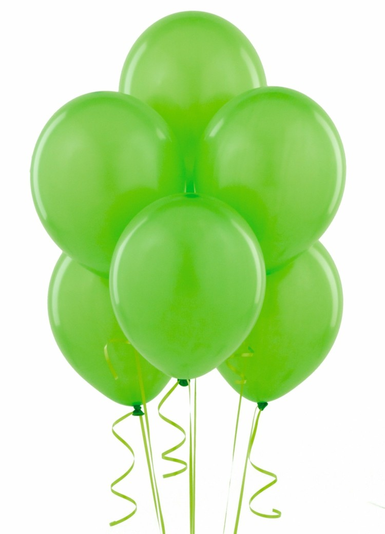 globos helio color verde