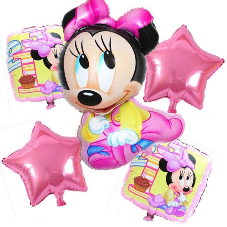 globos helio bebe color rosa