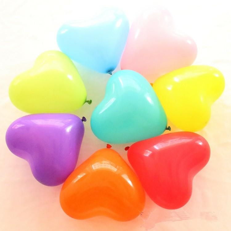 globos colores forma corazón