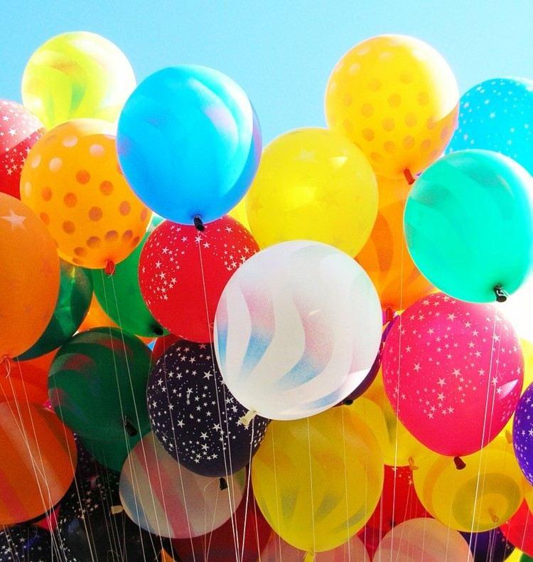 globos de cumpleaños estrellas negro estrellas
