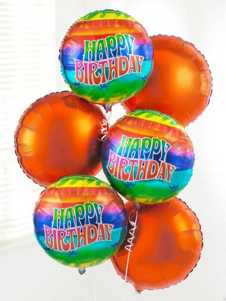 globos de cumpleaños naranja letras letras