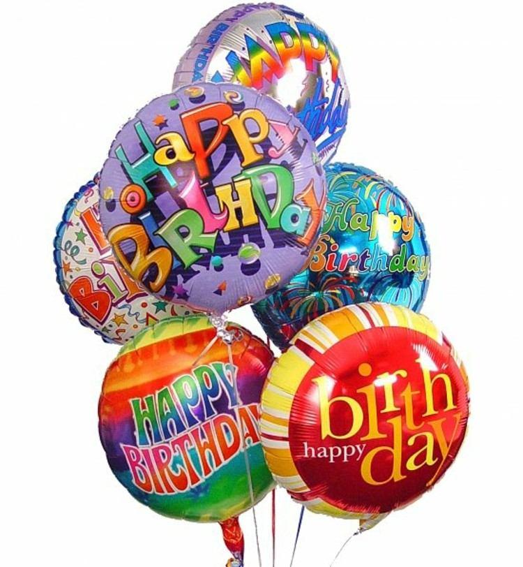 globos de cumpleaños soluciones carteles rojo