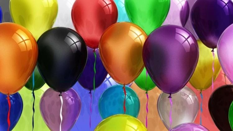 Гелевые шары с днем рождения
