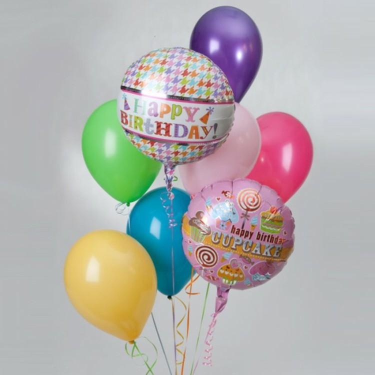 globos cumpleaños verdes diseños letras