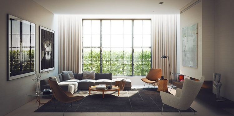 grises decorado estilo casas maderas