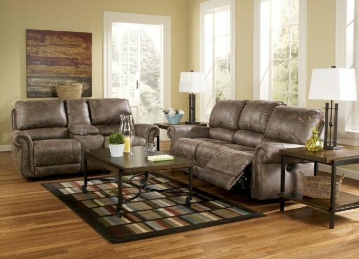 grises elegantes sistema cuero muebles
