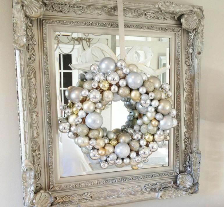 guirnalda corona navidad espejo bolas